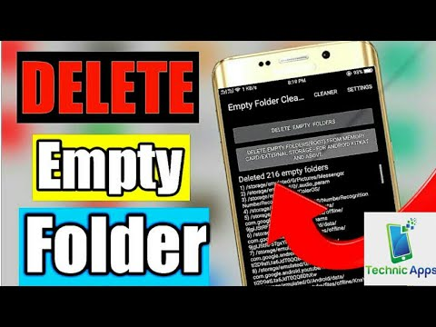 How to clean empty folders in SD CARD and INTERNAL STORAGE