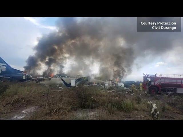Dramatic video captures crash of Mexico plane