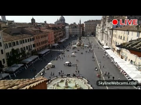Stunning Live Webcam from Piazza Navona - Rome