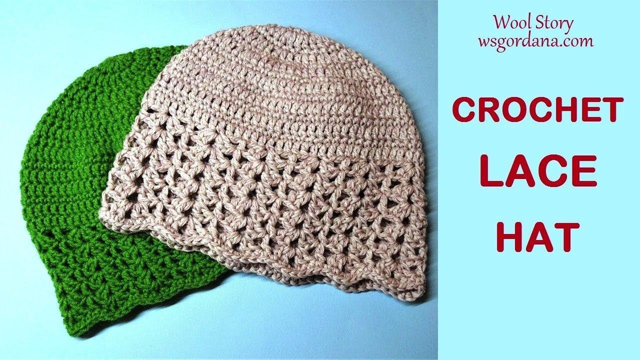 How to Crochet a Lace Hat For Beginner (Heklana kapa) - YouTube c620fbdf438