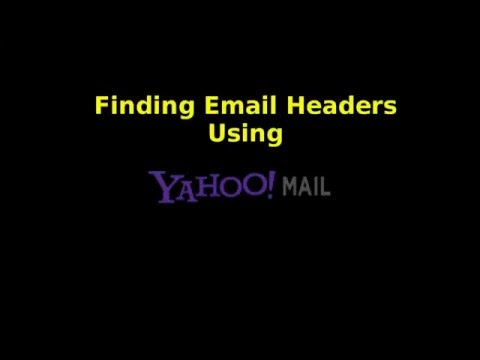 Finding Email Headers in Yahoo! Mail