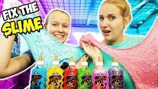 FIX THE SLIME CHALLENGE Kathi & Ninas Schleim Makeover! Aus hässlichem Slime wird neuer cooler Slime