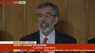 The Release of Gerry Adams - Press Conference