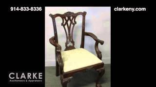 Post Auction | Modern Chippendale Style Dining Set | Dining Set | Furniture | Clarke Auction Gallery