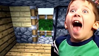 Minecraft with Jacob - How to Make a Sticky Piston Door!
