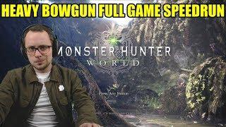 Monster Hunter Giveaway and Heavy Bowgun Speedrun -  (Monster Hunter World - PS4 Pro)