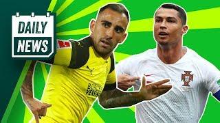 Paco Alcacer permanent transfer to Dortmund + Messi & Ronaldo missing ► Daily Football News