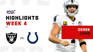 Derek Carr Highlights vs. Colts | NFL 2019