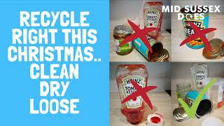Our recycling plant has one Christmas wish this year. All recycling should be clean, dry and loos...