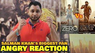 ZERO vs KGF | Salman Khan's Biggest Fan ANGRY REACTION | SRK vs Yash | Box Office Battle