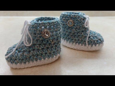 CROCHET How to #Crochet #Baby Tennis #Shoe Crochet #Booties Crochet #Sneakers #TUTORIAL #312 LEARN