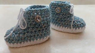 crochet how to crochet baby tennis shoe crochet booties crochet sneakers tutorial 312