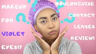 Makeup for Violet Eyes!?   Boulonguise Review
