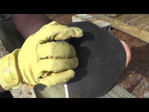 Sharpening an Old Garden Hoe