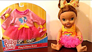 Baby Alive Play & Dance Dress Toys R Us Unboxing and Changing Video with Darci's Dance Class Doll
