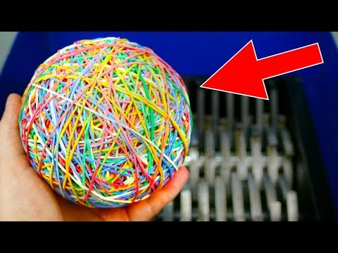 SHREDDING RUBBER BAND BALL