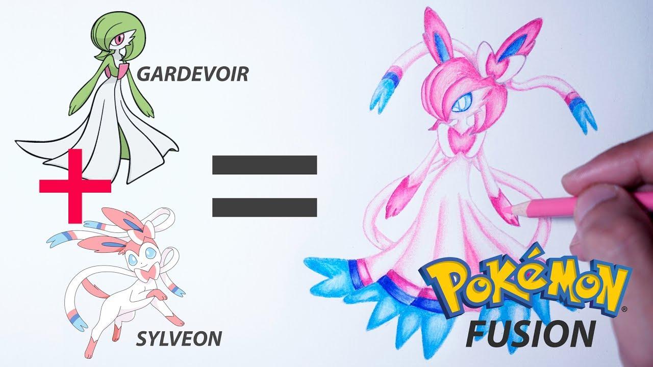 gardevoir sylveon pokemon fusion drawing eeveelutions 17