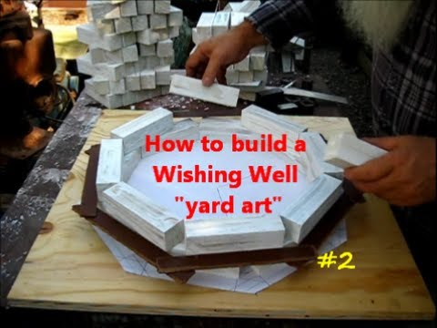 How to Build a Wishing Well  yard art project 2of  YouTube