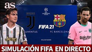 JUVENTUS - BARCELONA | FIFA 21: simulación del partido de fase de grupos de la Champions | AS