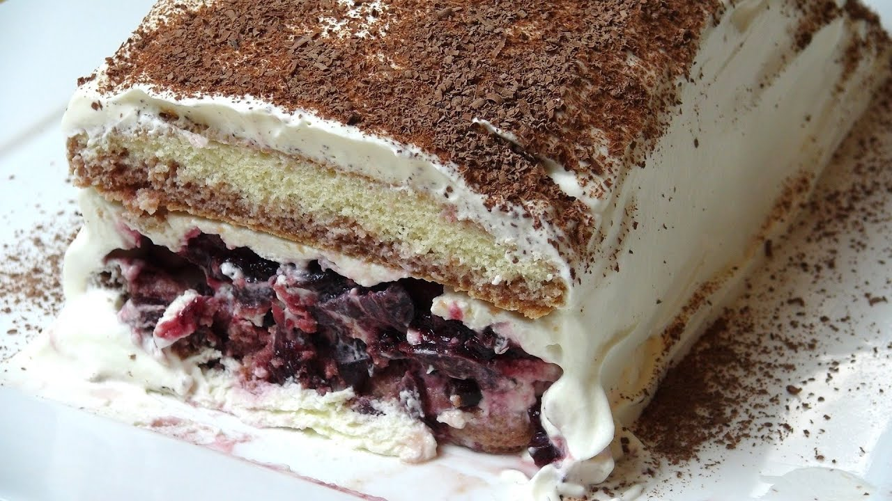 Cake Recipes In Pictures: No Bake Black Forest Cake