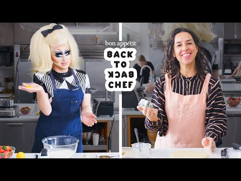 Trixie Mattel Tries to Keep Up with a Professional Chef | Back-to-Back Chef | Bon Apptit