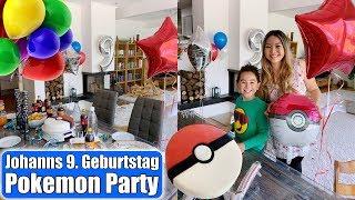 Johanns Geburtstagsparty 🎂 Pokemon Torte & Geschenk auspacken! Überraschung machen   Mamiseelen