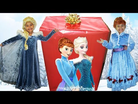 Disney Olaf's Frozen Adventure Queen Elsa Princess Anna IRL Biggest Surprise Box Opening Frozen Toys
