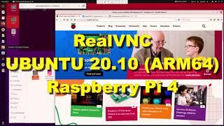 RealVNC Server on UBUNTU 20.10…