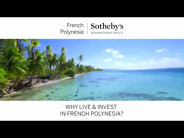 Why Live & Invest  in French Polynesia - a webinar with Jacques Menahem