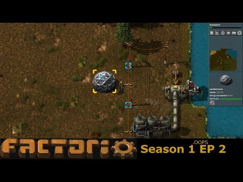 Factorio S1.OOPS Ep. 002 - Electricity and Iron and Copper Smelting
