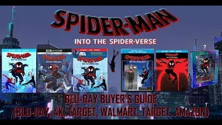 SPIDER-MAN - INTO THE SPIDER VERSE - BLURAY UNBOXING (BLURAY, 4K, TARGET, BEST BUY, WALMART) - BBG