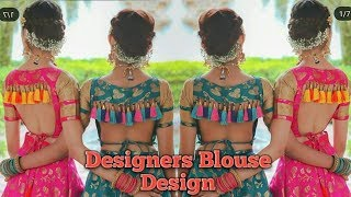 Latest Trendy Designer Blouse Design with Stylish Back Neck Design Stylish 2019 by Trendy India