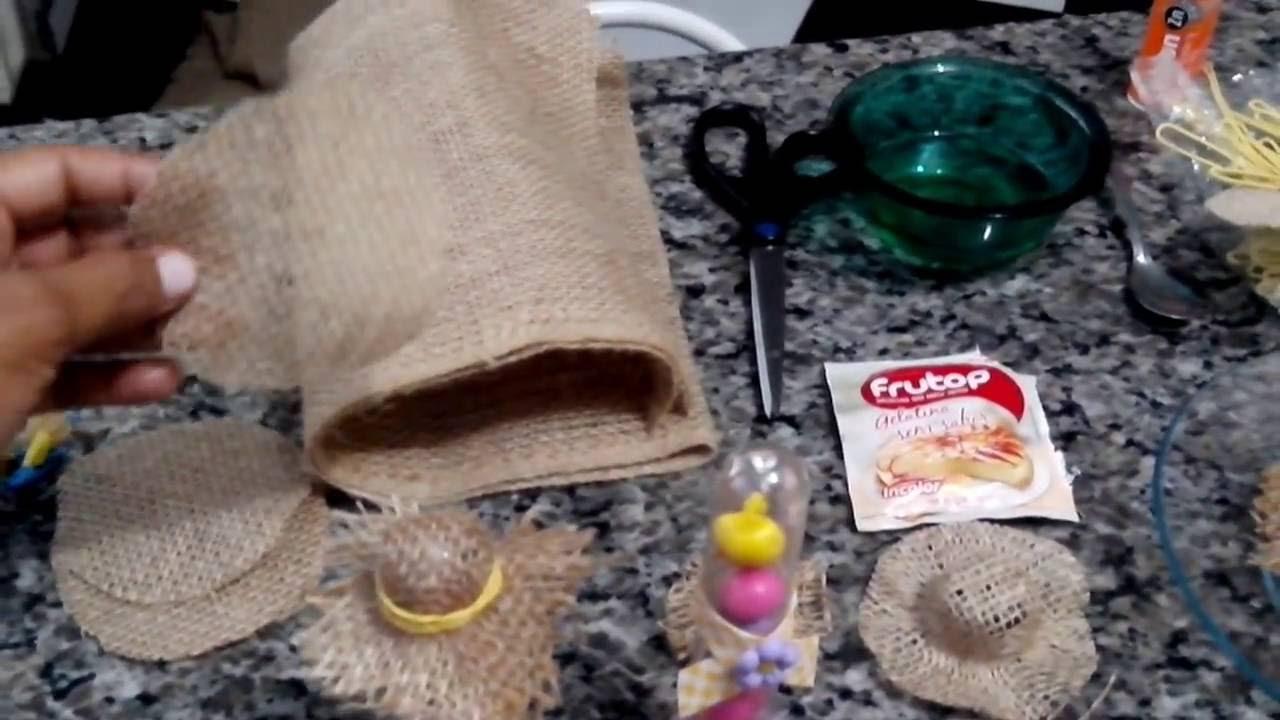 Pap chapéu caipira..mini. - YouTube fa0dd583e44