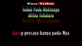 Karaoke Rohani Kristen || Indah Pada Waktunya - Mitha Talahatu