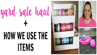 YARD SALE HAUL + How We Are Using Some Of the Items