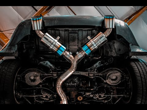 install and sound titanium tomei dual exit exhaust on our twin turbo 350z