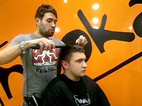 Straightening Men S Hair Youtube