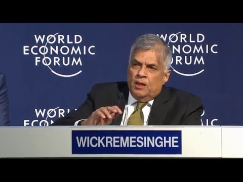 Davos 2016 - Press Conference with the Prime Minister of Sri Lanka