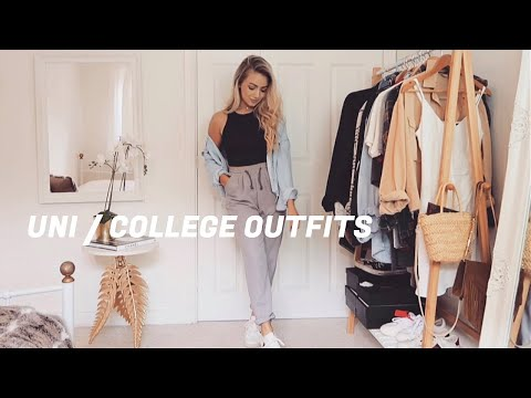 UNI / COLLEGE OUTFITS - Realistic comfy and casual outfit ideas! Back to school lookbook 2020
