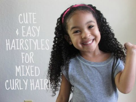 Quick And Easy Hairstyles For Mixed CURLY HAIR!!!! - YouTube