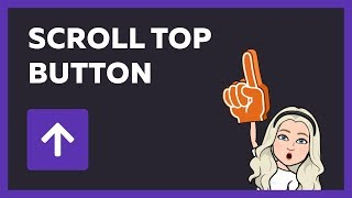Scroll top button - back to top Using HTML CSS & JQuery