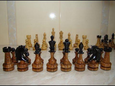 Изготовление шахмат.