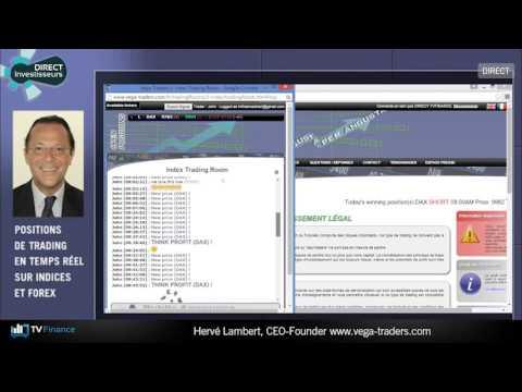 TV Finance : le multiplex des traders avec Herve Lambert, Vega-Traders
