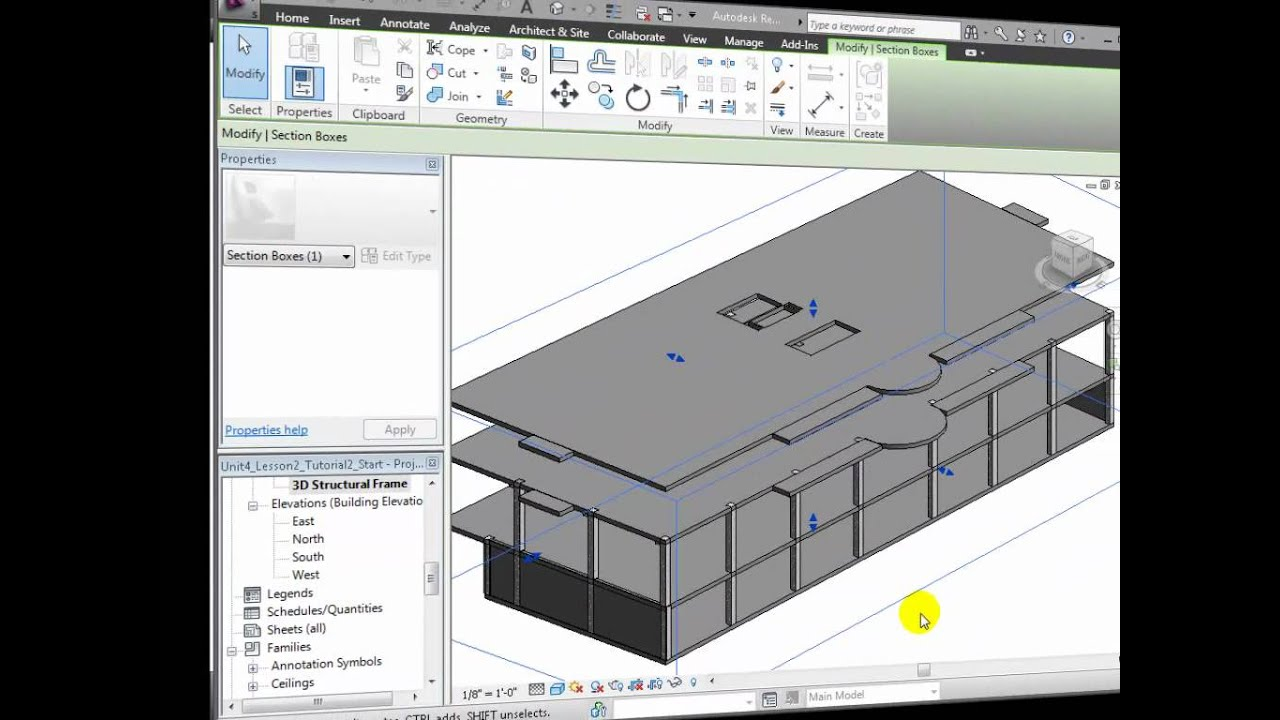Revit Structure Modeling Concrete Columns Beams And Floor Slabs Youtube