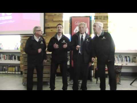 Ken's Barbershop Quartet at the 40th Anniversary