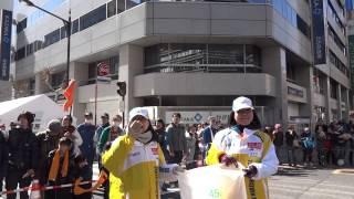 東京マラソン2013(2013年2月24日開催)の30㎞地点の浅草橋付近~36㎞地...