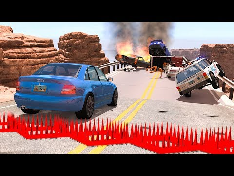 collapsing-bridge-pileup-car-crashes-#12---beamng-drive-|-smashchan
