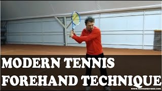 Modern Tennis Forehand Technique - Balance and Stability // Mili Split Method Coach Certification
