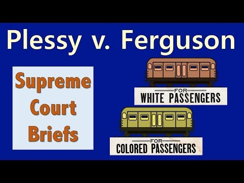 Legal Segregation? | Plessy V. Ferguson