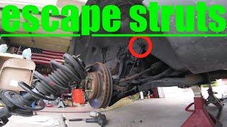RUST SUCKS...Front STRUT replacement FORD Escape √ Fix It Angel